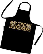 MAY CONTAIN PROSECCO / Cooks / Chefs full length APRON / Tabard / BIRTHDAY GIFT
