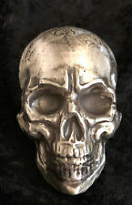 """10 Troy Oz MK BarZ """"Vexed Skull"""" Hand Poured .999 FS LIMITED EDITION"""