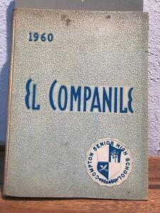 1960 COMPTON HIGH SCHOOL YEARBOOK, COMPTON, CALIFORNIA  EL COMPANILE