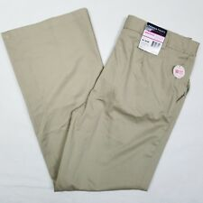 Girls French Toast Chinos Boot Cut Size 18.5 Plus Beige New Adjustable Waist