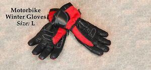 Motorbike winter gloves Size L Waterproof Windproof