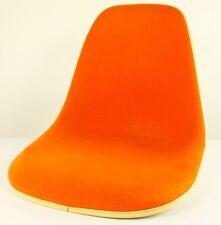 Eames Glasfaser Sitzschale Side Shell Orange Gepolstert Stuhl Herman Miller