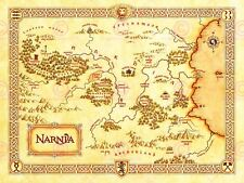 Movie Film Map Narnia Lewis Classic Sci Fi Poster Print Lv10152