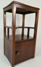"""Vintage Nightstand Cabinet End Table Art Deco Bedside Mahogany Mid-Century 30"""""""
