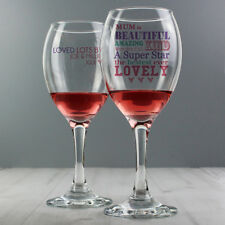 PERSONALISED WINE GLASS for Women Her Mum Birthday Christmas Mothers Day Gifts