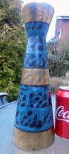 Tall West German Ceramic Vase Retro Abstract Design With Gold Very 1960s Fab!