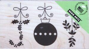 Hero Arts - Rubber Stamp on Wood - Joy Ornaments - G5525