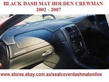 DASH MAT, BLACK DASHMAT, DASHBOARD COVER FIT HOLDEN CREWMAN 2002-2007,BLACK