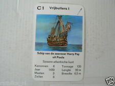 67-PIRATEN,PIRATES, C1 VRIJBUITERS 1 ZEEROVER HARRY PAY POOLE SCHIP
