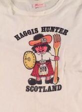 Vintage Scotland Tourist T-shirt, Ron Holland Portsmouth Large White 80s