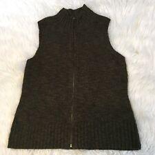 J. Jill Women's Sweater Vest Size S Full Zip Wool Alpaca Blend