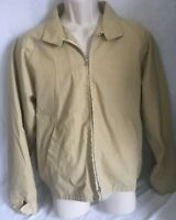 Vintage Sears The Men's Store Outerwear Carmel Brown Jacket Coat zip up 42 1970s