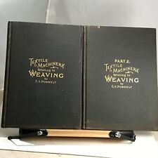 1898 E.A. Posselt's Textile Machinery Relating to Weaving - Two Volumes