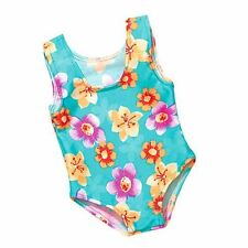Turquoise Print One Piece Bathing Suit Fits 18 inch American Girl Dolls
