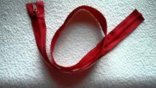 30 inch Red Vislon #5 Reversible & Separating Vislon Ideal Zipper New!