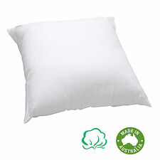 Made In Australia - EUROPEAN PILLOW INSERT Cotton Cover & Polyester Fill 65x65cm