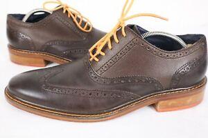 Cole Haan C11757 Colton Pebbled Dress 5-Eye Wing Tip orange Oxford Men's US 10 M