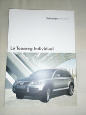 VW Touareg Individual brochure Sep 2004 French text