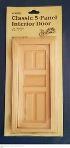 Housework's Dollhouse Classic 5-Panel Interior Door Model # 6008 New & Un-Opened