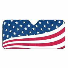 American Flag USA Auto Sun Shade [NEW] Car Truck Window Reflective Cover 59x27
