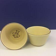Pair of Pfaltzgraff VILLAGE Deep Ice Cream/Dessert Bowls