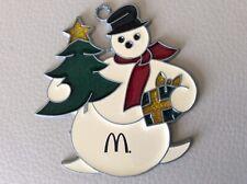 Vintage McDonalds Christmas Ornament Snowman