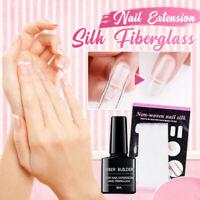Nail Art Non-woven Silk Fiberglass + Builder Gel Kit For Nail Extension