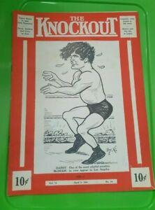 """The Knockout"" Boxing Program: 1941. Danny McShain, Jackie Wilson, Monte LaDue."