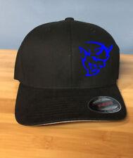 Custom Embroidered Demon Head Black Flex-Fit Hat You Choose Size & Thread Color
