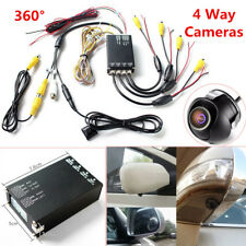 360° Bird View Panoramic 4 Camera Car DVR Recording Parking Rear View 2 videos