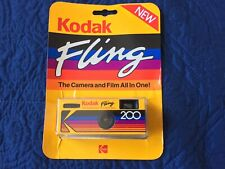 Disposable Kodak Fling camera still in packaging, early 1990s