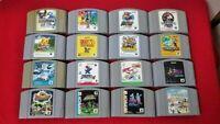 Nintendo 64 Game bundle lot of 16 games Cartridge Mario Kart, Donkey Kong