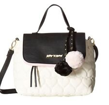 Betsey Johnson Quilted Hearts Be Mine Satchel Crossbody NWT Bag Top Handle