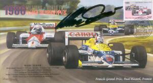 1986c WILLIAMS-HONDA FW11s PAUL RICARD F1 Cover signed MARC SURER