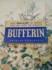 Vintage Bufferin Professional Sample Package Box Antacid Analgesic Medicine