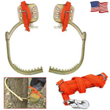 Tree Climbing Spike Set with Foot Buckle Safety Belt Strap Rope Climbing Tools