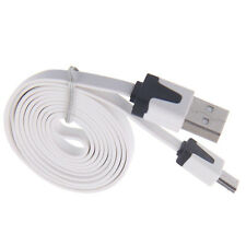 1-3M Flat Noodle Micro USB Charger Sync Data Cable for Android Phones Samsung