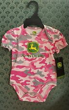 John Deere  baby pink camo one piece onesy 9M JSB001FN