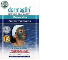 Dermaglin ANTI-ACNE Facial Face Mask Green Cambrian Clay + Aloe Vera + Oat
