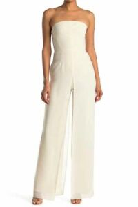 HALSTON EVENING Strapless Jumpsuit, Side-zip closure, Lined, Size 6, $525, NWT