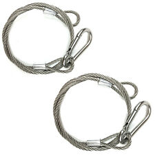 2 Pcs Silver 25.5 Stage DJ Light Safety Snap Cable Flexible Security Wire Lines