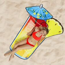 Beach Blanket Tropical Drink Towel Microfibre Large Sun Lounger Novelty 5 ft
