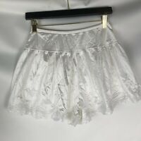 Peter Pant womens vintage underpants size medium 6 white lace nylon long