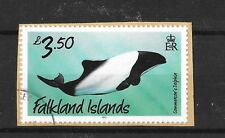 Falkland Islands 2012 Whales  and Dolphins Def Sg1241 Used on Piece  USED