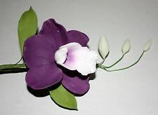 Amethyst Orchid Purple Sugar Flower Spray, Cake Topper Celebration Cakes Wedding
