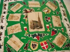 Ladies Scarf German Touist Locations Travel Castle Cathedral Wine Opera 34 x 34