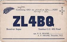 QSL Card DUNEDIN NEW ZEALAND 1936 Funk Karte Radio ZL4BQ    ( 80527