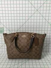 Coach F28989 Signature Small Kelsey light weight Satchel Bag Khaki Saddle 2