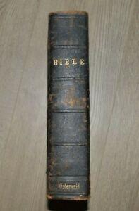 OSTERVALD La SAINTE BIBLE - L'Ancien et le Nouveau Testament par OSTERVALD 1867