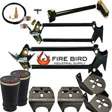 """Weld On Parallel 4 Link Kit Brackets 9000 Bags Air Line kit 3"""" axle xzx"""